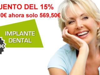 Aprovecha nuestra oferta en tratamientos con implantes dentales.